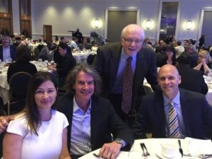 Kevin and Donna Berg, Vin Ialenti and President Vander Hooven at the awards reception