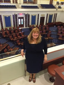 Rep. Susannah Whipps in the Massachusetts Statehouse