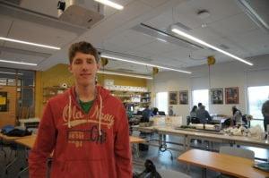 Jonathan Chernoch in a classroom