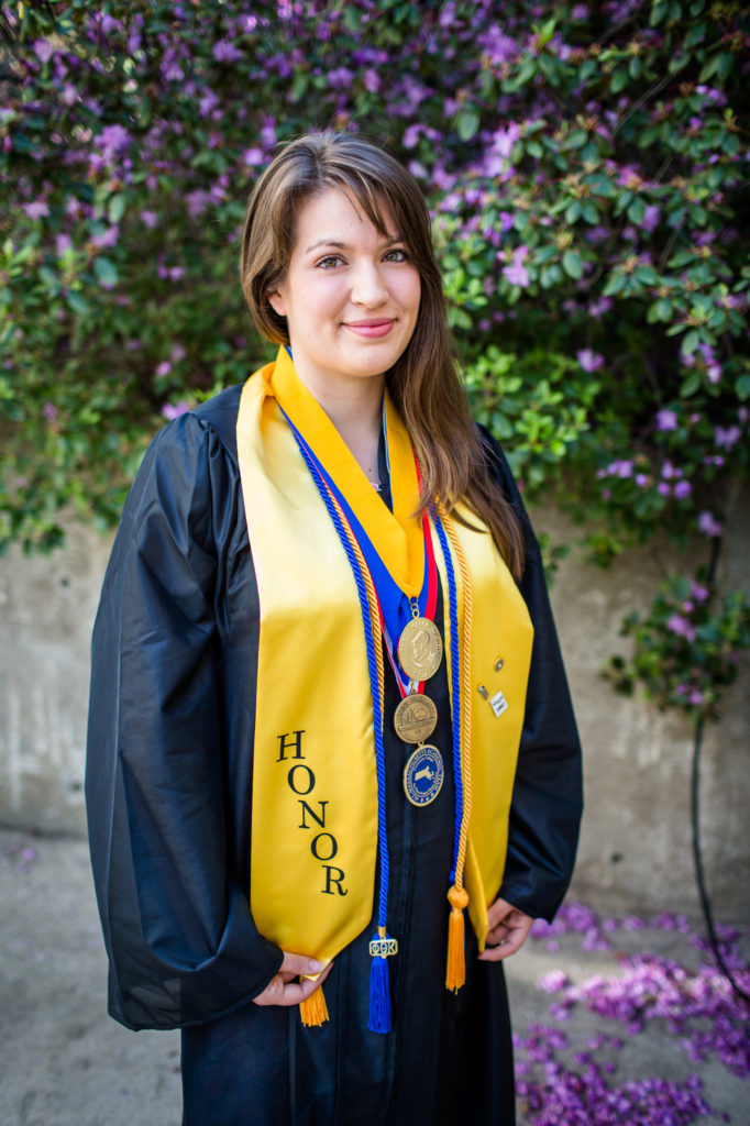 MWCC Honors Program Student Jana Murphy at Graduation