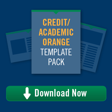 Credit/Academic Orange Template Pack