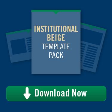 Institutional Beige Template Pack