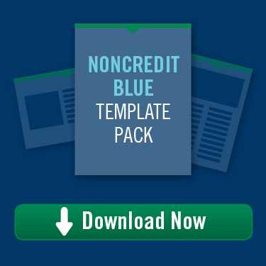 Noncredit Blue Template Pack