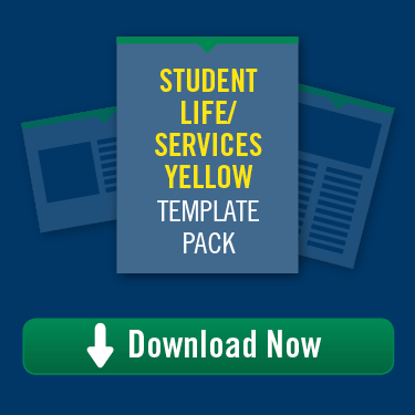 Student Life/Services Yellow Template Pack