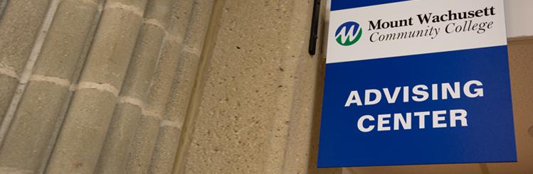 MWCC Advising Center Sign