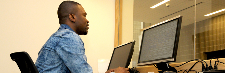 MWCC Student at a Computer