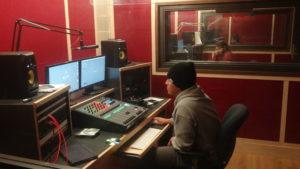 Media Arts & Technology - Student working in audio studio