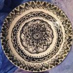Breakout Plate, Stoneware, 4' round by Isabella Bourque Dixson