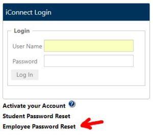 iConnect - Employee Password Reset
