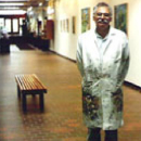 John Pacheco standing in the East Wing Gallery
