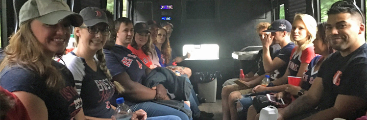 MWCC Alumni on the Bus to the Red Sox Game