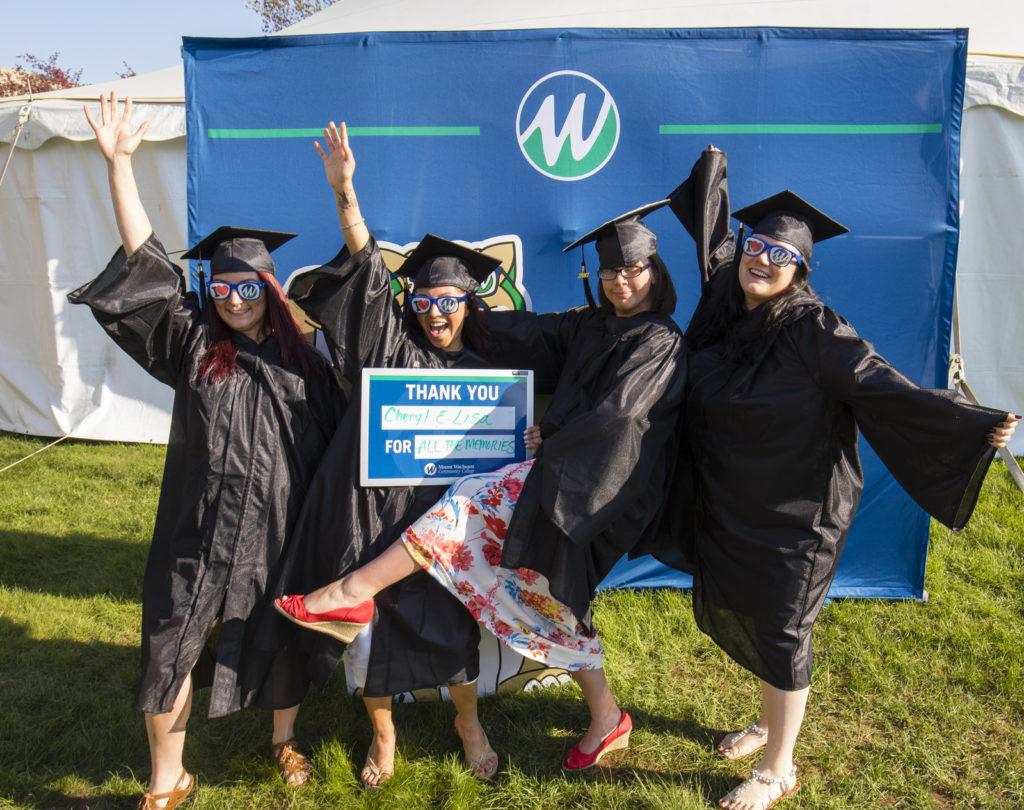 MWCC Medical Laboratory Technology Graduates Celebrating and Thanking Professor Cheryl Wilson