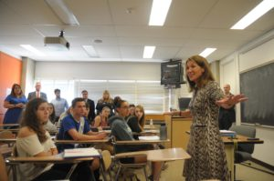 Lt. Governor Karyn Polito Visit MWCC Early College Students