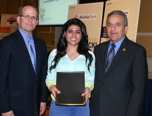 Remie El-Hayek receiving her award