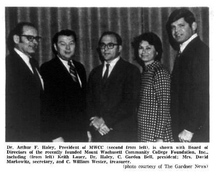 Scan of an old newspaper photo showing the first Foundation Board of Directors