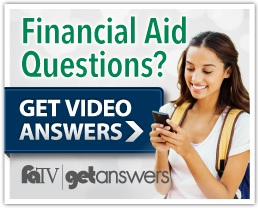 [Female student looking at phone] Financial Aid Questions? Get Video Answers