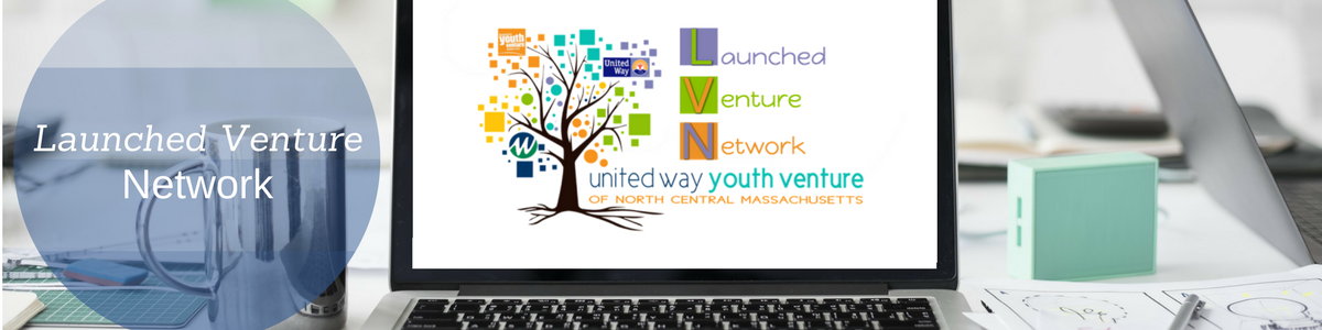 "Screen on laptop on desk displaying the words ""Launched Venture Network"""