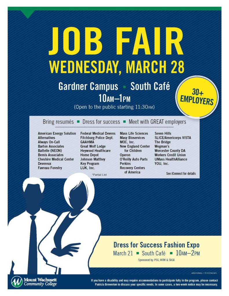 Job Fair to Bring over 30 Employers to MWCC — Mount