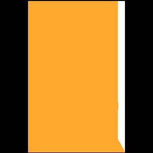 Orange Artist's Easel Icon