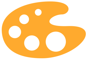Orange Artists Palette Icon