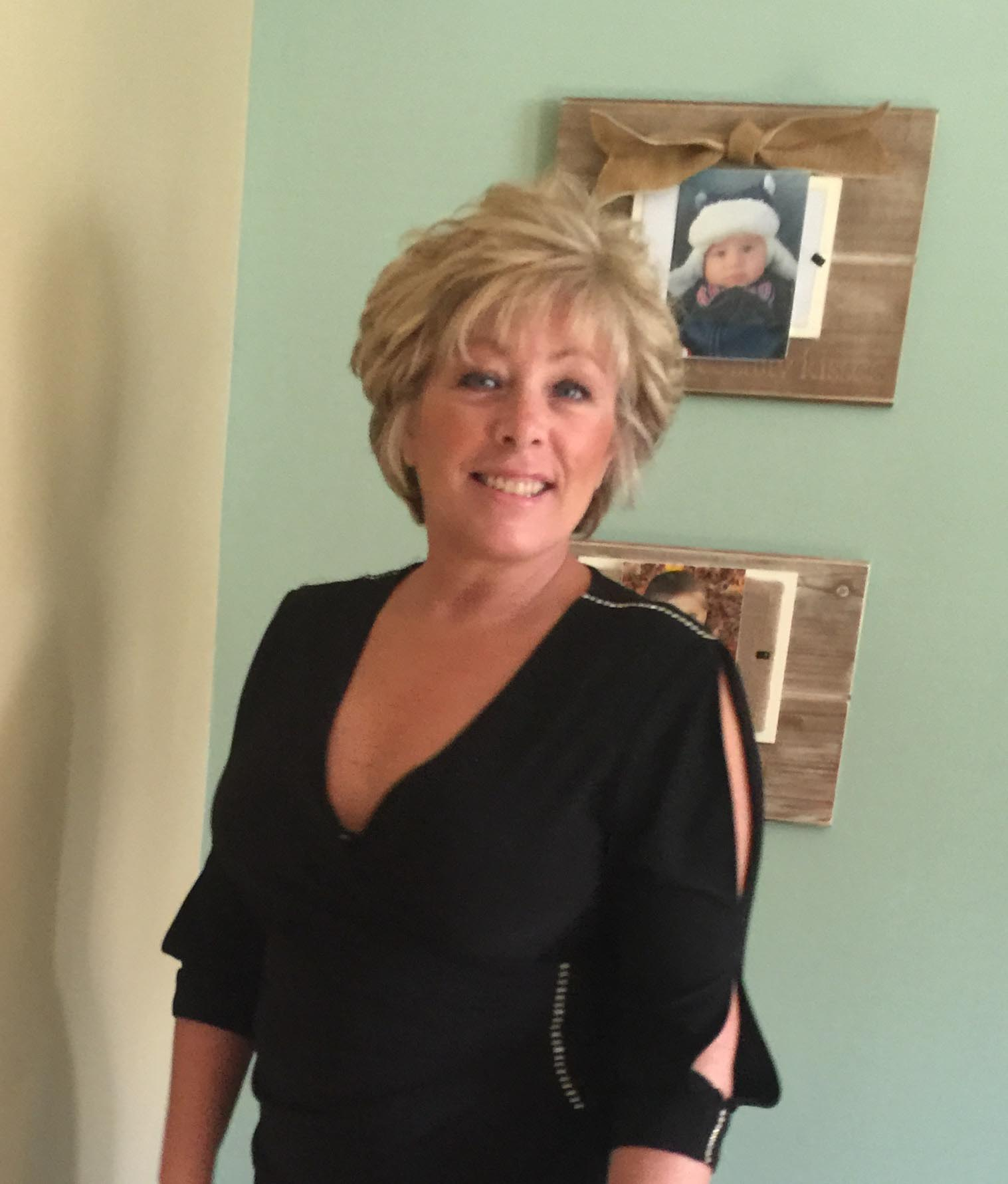 Jill Gordon is pictured in her house.