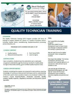 Quality Technician Training Flier