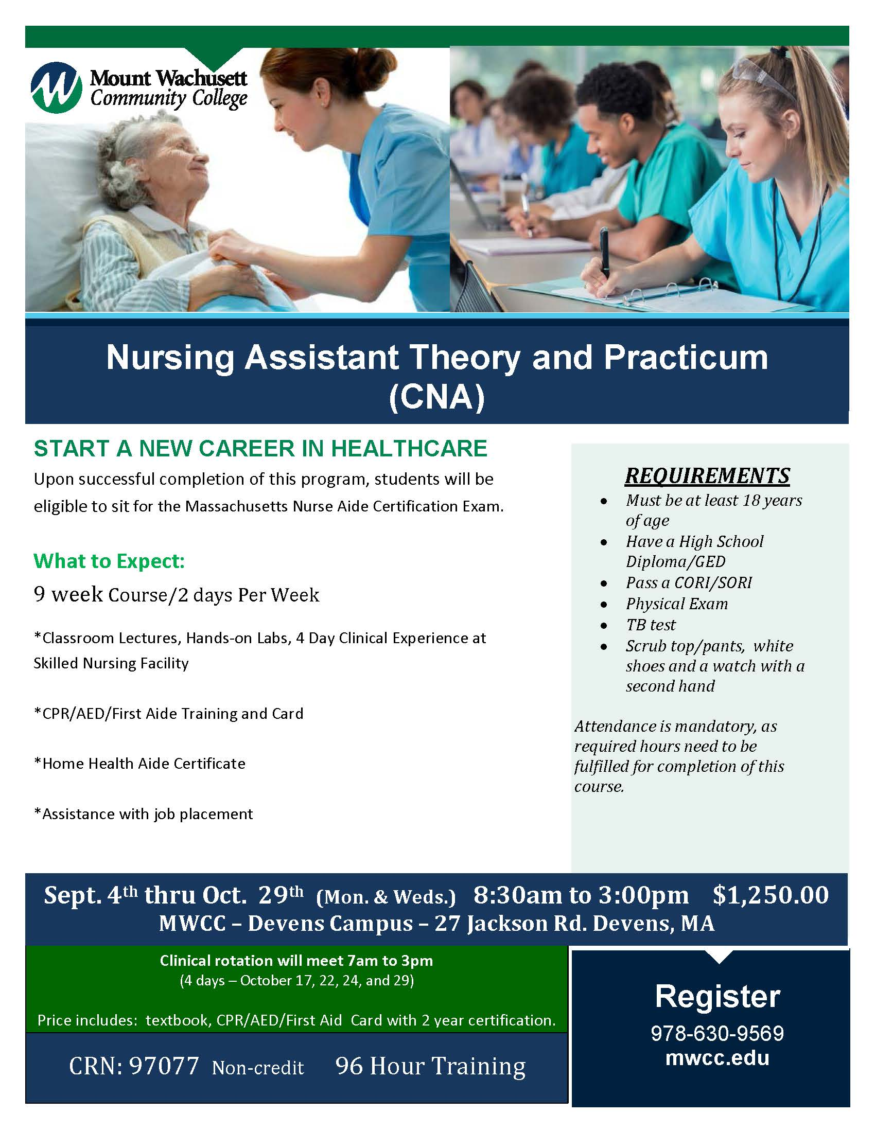 Cna Paramedic And Emt Training Mount Wachusett Community College