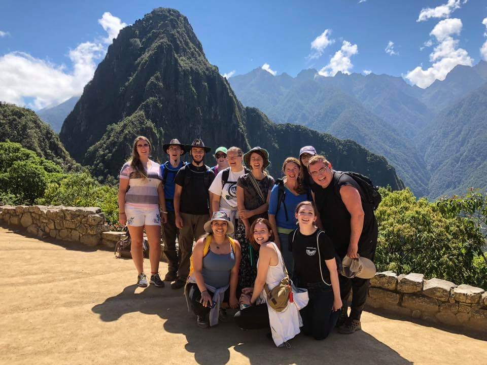 Group of MWCC Student Travelers in Machu Picchu