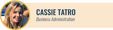 [headshot] Cassie Tatro, Business Administration