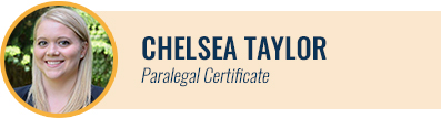 [headshot] Chelsea Taylor, Paralegal Certificate