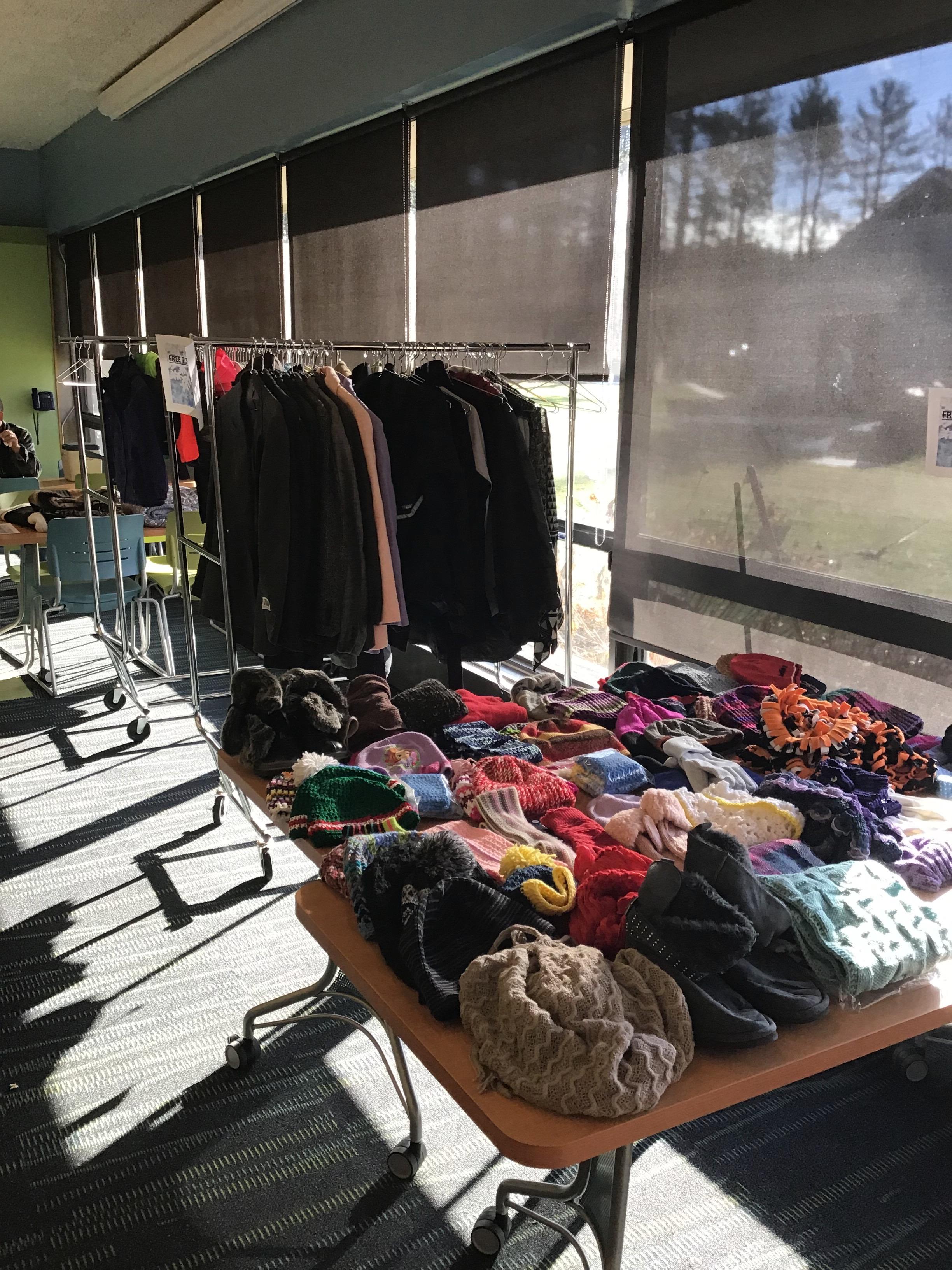 clothing hangs on hangers