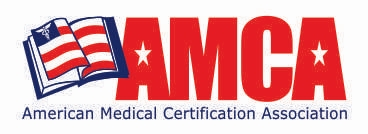 AMCA logo with american flag book