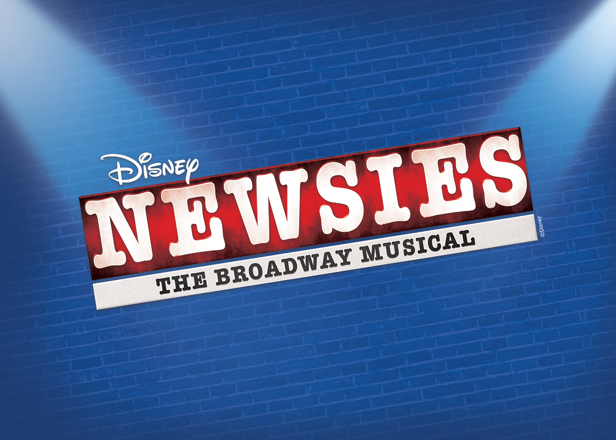 "Logo of Disneys ""Newsies"" The Broadway Musical"