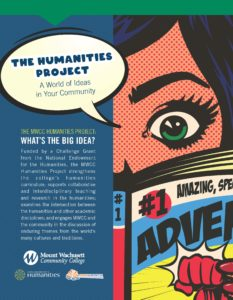 Informational flyer on humanities project graphic novel image