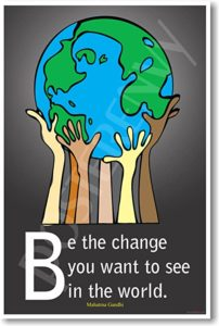 Be the Change Graphic