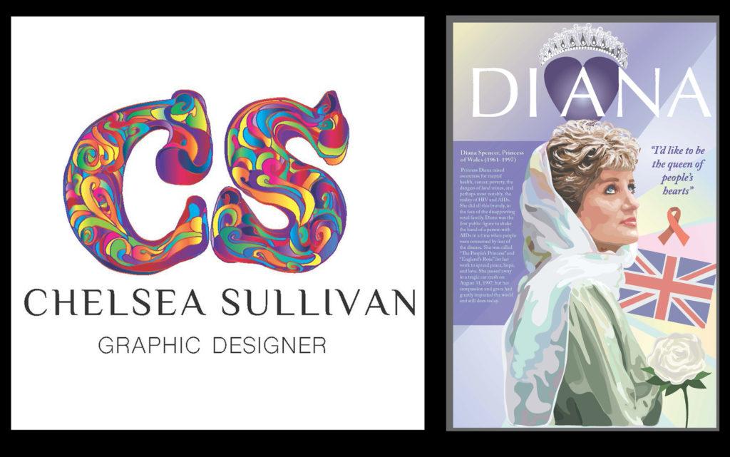 Personal Branding and Princess Diana Portrait Illustration