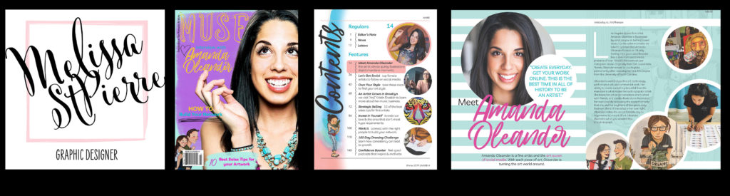 Melissa St Pierre Personal Branding and Muse Magazine Design