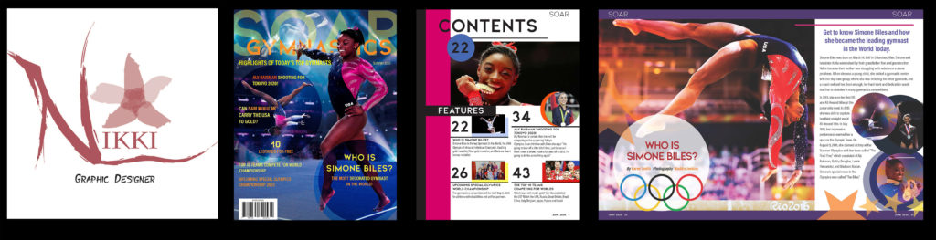 Nikki Lane Personal Branding and Soar Gymnastics Magazine Design