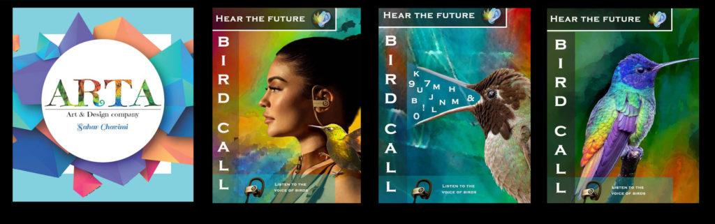 Sahar Ghavimi Personal Branding and Birdcall Design Campaign