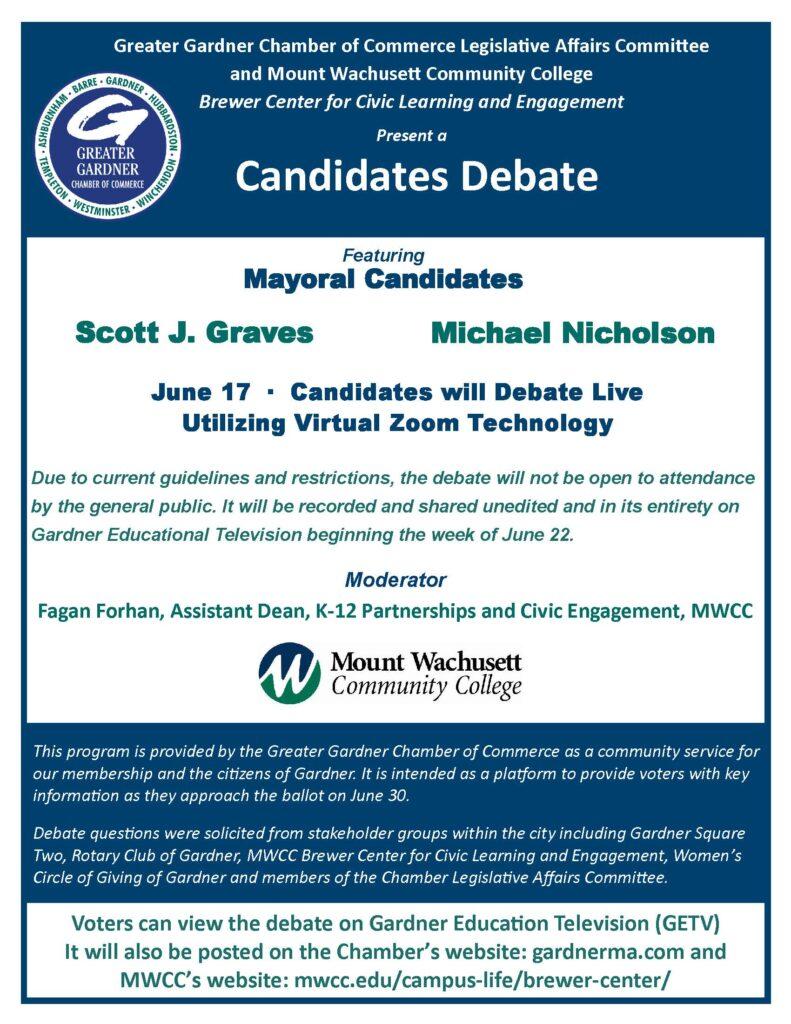 Mayoral Debate Poster