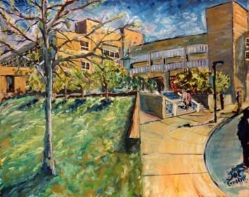 Joe Feinsilver Painting of MWCC