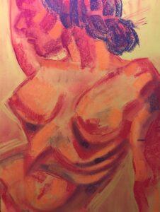 Adoria Kavuma-Winburn, Untitled, 2020, chalk pastels, 24 X 36in