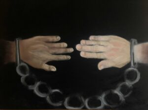 Cheryl-Sanders,-Bound-Together,-2020,-pastel-on-paper,-19.5-x-25.5-in