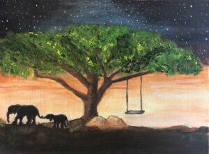 Cheryl-Sanders,-Homeward-Bound,-2020,-acrylic-on-canvas,-12x16-in