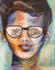 Cheryl-Sanders-My-Boy,-2020,-acrylic-on-canvas,-16x20in