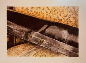 Cheryl-Sanders,-Violin-Case,-2020,-watercolor-on-paper,-12-x16-in