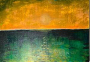 Susan Roetzer, Sunset, 2020, acrylic on canvas, 16x20in