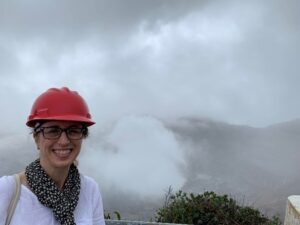 Tracey at Volcano in Costa Rica August 2019