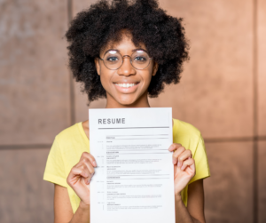 Girl with Resume