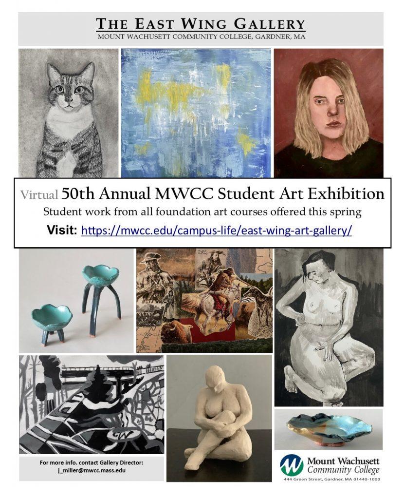 2021 Sp 50th Student Art exhibit poster